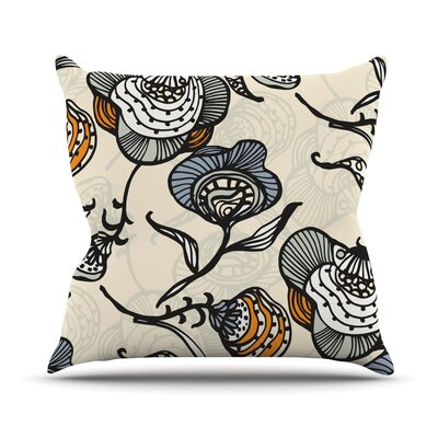 Future Nouveau Lite by Gill Eggleston Throw Pillow Size: 16 H x 16 W x 1 D, Color: Tan