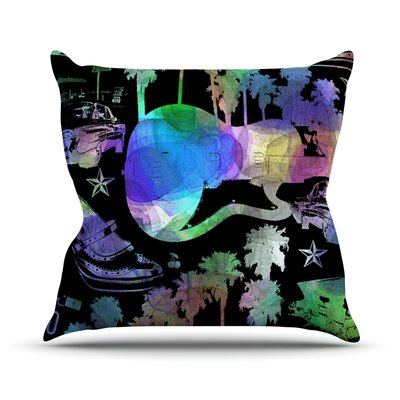 California Dream by Gabriela Fuente Rainbow Abstract Throw Pillow Size: 18 H x 18 W x 1 D