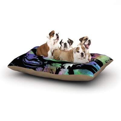 Gabriela Fuente California Dream Abstract Dog Pillow with Fleece Cozy Top Size: Large (50 W x 40 D x 8 H)