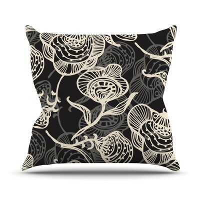 Future Nouveau Lite by Gill Eggleston Throw Pillow Size: 16 H x 16 W x 1 D, Color: Black/White