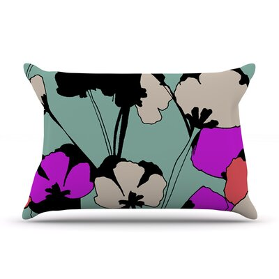 Vintage Flowers by Gabriela Fuente Featherweight Pillow Sham Size: King, Fabric: Woven Polyester