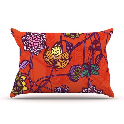 Garden Blooms Hot by Gill Eggleston Pillow Sham Size: Queen, Fabric: Woven Polyester