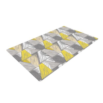 Gill Eggleston Linford Yellow/Gray Area Rug Rug Size: 2 x 3