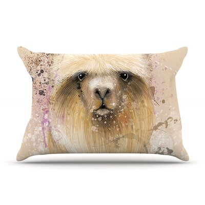 Llama Me by Geordanna Cordero-Fields Featherweight Pillow Sham Size: King, Fabric: Woven Polyester