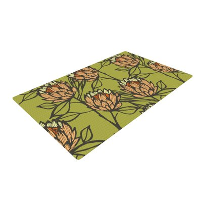 Gill Eggleston Protea Orange/Olive Area Rug Rug Size: 4 x 6