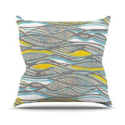 Drift by Gill Eggleston Throw Pillow Size: 18'' H x 18'' W x 1