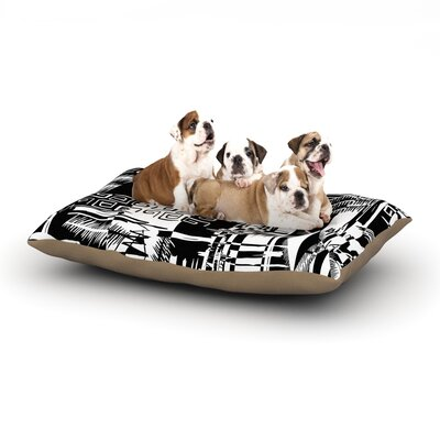 Gabriela Fuente Tropical Buzz Dog Pillow with Fleece Cozy Top Size: Small (40 W x 30 D x 8 H)