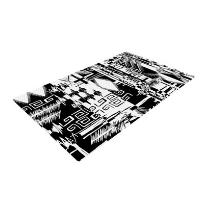 Gabriela Fuente Tropical Buzz Black/White Area Rug Rug Size: 2 x 3