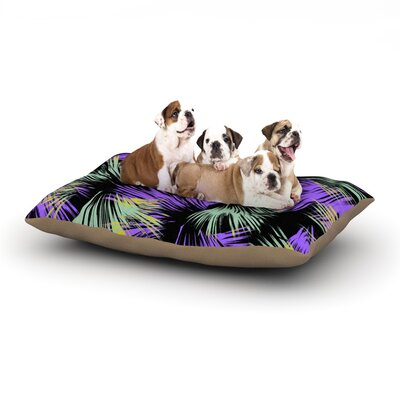 Gabriela Fuente Tropical Fun Dog Pillow with Fleece Cozy Top Size: Small (40 W x 30 D x 8 H)