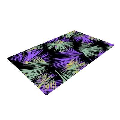 Gabriela Fuente Tropical Fun Purple/Green Area Rug Rug Size: 2 x 3
