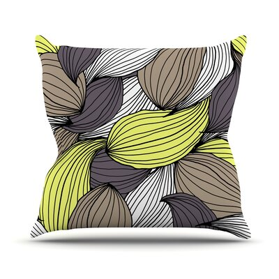 Wild Brush by Gabriela Fuente Throw Pillow Size: 18 H x 18 W x 1 D