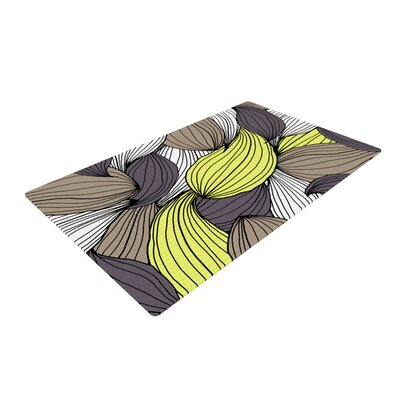 Gabriela Fuente Wild Brush Yellow/Brown Area Rug Rug Size: 2 x 3