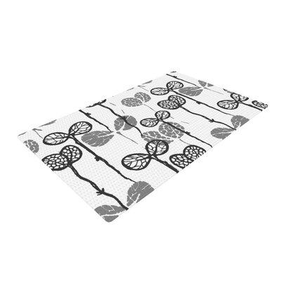 Gill Eggleston Seedlings of Change White/Gray Area Rug Rug Size: 2 x 3