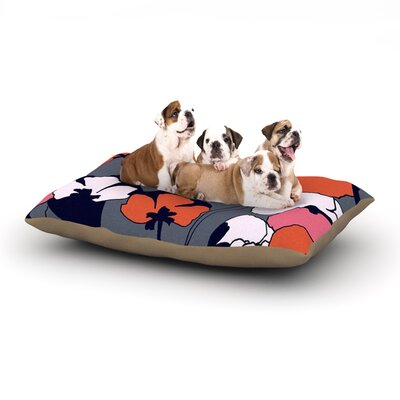 Gabriela Fuente Pop Flowers Dog Pillow with Fleece Cozy Top Size: Large (50 W x 40 D x 8 H)