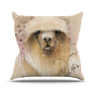 Llama Me by Geordanna Cordero-Fields Throw Pillow Size: 18 H x 18 W x 1 D