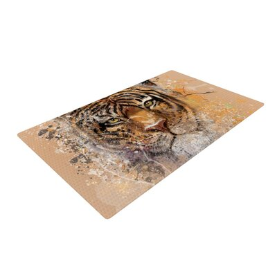 Geordanna Cordero-Fields My Tiger Orange/Tan Area Rug Rug Size: 2 x 3