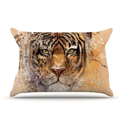 Geordanna Cordero-Fields My Tiger Orange Tan Featherweight Sham Size: Queen, Fabric: Woven Polyester