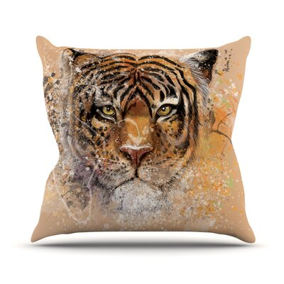 My Tiger by Geordanna Cordero-Fields Throw Pillow Size: 26 H x 26 W x 1 D