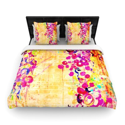 Wall Flowers Woven Comforter Duvet Cover Size: Twin