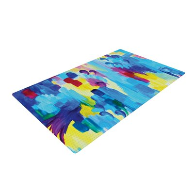 Ebi Emporium Dont Quote Me, Revisited Yellow/Blue Area Rug Rug Size: 2 x 3