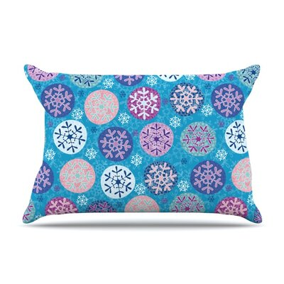 Floral Winter by Julia Grifol Featherweight Pillow Sham Size: King, Fabric: Woven Polyester