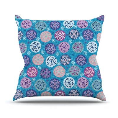 Floral Winter Throw Pillow Size: 16 H x 16 W x 3.7 D