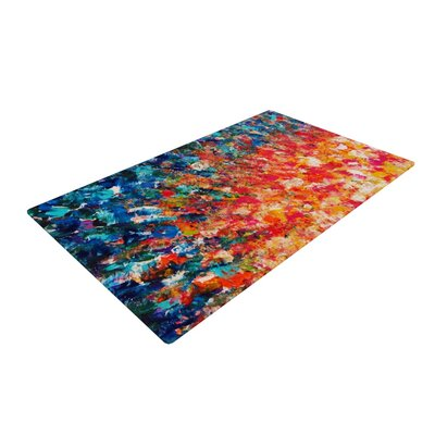 Ebi Emporium the Clash Orange/Blue Area Rug Rug Size: 4 x 6