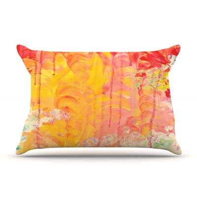 Sun Showers by Ebi Emporium Featherweight Pillow Sham Size: King, Fabric: Woven Polyester