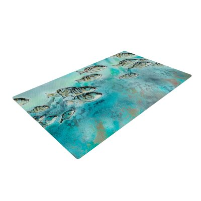 Josh Serafin Surf Perch Blue/Green Area Rug Rug Size: 4 x 6
