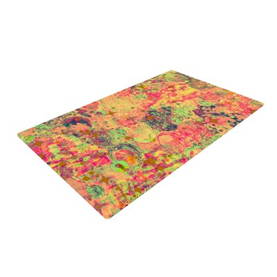 Ebi Emporium Time for Bubbly Orange/Green Area Rug Rug Size: 4 x 6