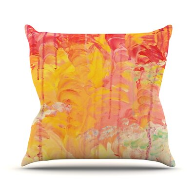 Sun Showers by Ebi Emporium Throw Pillow Size: 20 H x 20 W x 4 D