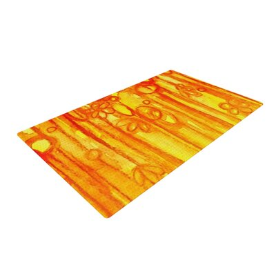 Ebi Emporium Summer Sentiments Orange Area Rug Rug Size: 2 x 3