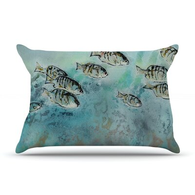 Surf Perch by Josh Serafin Featherweight Pillow Sham Size: King, Fabric: Woven Polyester
