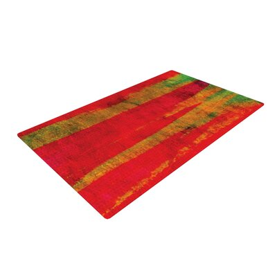 Ebi Emporium Fierce Red Area Rug Rug Size: 2 x 3