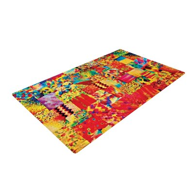 Ebi Emporium Painting the Soul Yellow/Red Area Rug Rug Size: 2 x 3