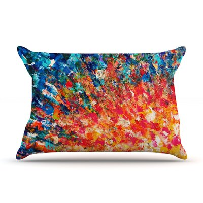 The Clash by Ebi Emporium Featherweight Pillow Sham Size: King, Fabric: Woven Polyester