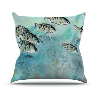 Surf Perch by Josh Serafin Throw Pillow Size: 18 H x 18 W x 3 D
