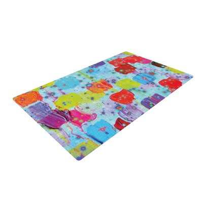 Ebi Emporium Speckle Me Dotty Blue/Red Area Rug Rug Size: 4 x 6