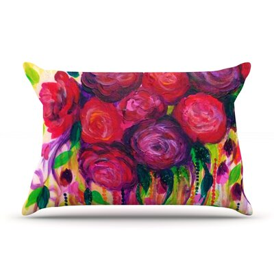 Roses are Red by Ebi Emporium Featherweight Pillow Sham Size: King, Fabric: Woven Polyester