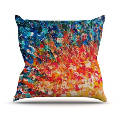 The Clash by Ebi Emporium Throw Pillow Size: 26 H x 26 W x 5 D