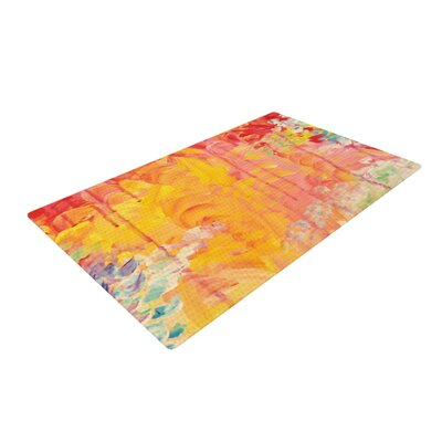 Ebi Emporium Sun Showers Orange Area Rug Rug Size: 2 x 3