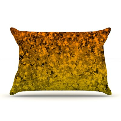Romance Me by Ebi Emporium Pillow Sham Size: King, Color: Gold, Fabric: Cotton