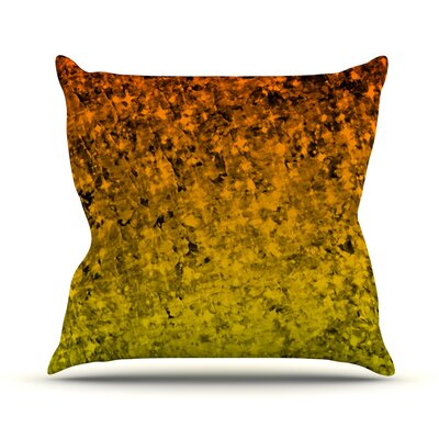 Romance Me by Ebi Emporium Glitter Throw Pillow Size: 16 H x 16 W x 3 D, Color: Tangerine