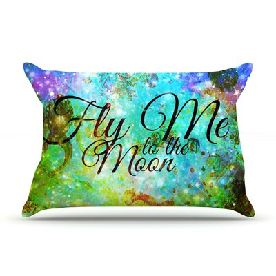Fly Me To The Moon by Ebi Emporium Featherweight Pillow Sham Size: King, Fabric: Woven Polyester