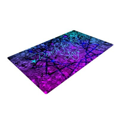 Ebi Emporium Reach for the Stars Pink/Teal Area Rug Rug Size: 2 x 3