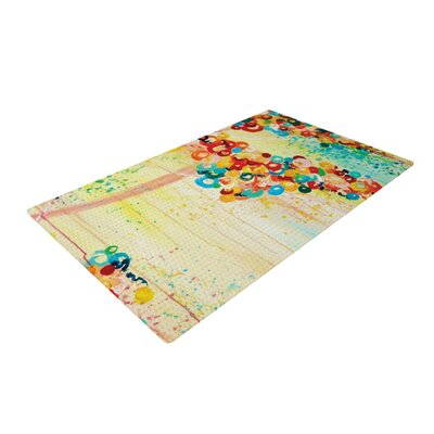 Ebi Emporium Summer Yellow/Blue Area Rug Rug Size: 4 x 6