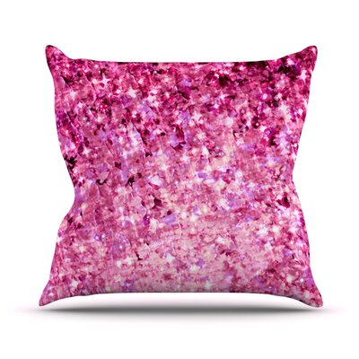 Romance Me by Ebi Emporium Glitter Throw Pillow Size: 16 H x 16 W x 3 D