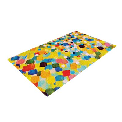Ebi Emporium Swept Away Yellow/Blue Area Rug Rug Size: 2 x 3