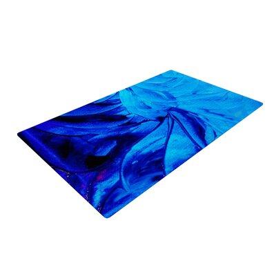 Ebi Emporium Petal Pinwheels Blue/Aqua Area Rug Rug Size: 2 x 3