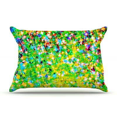 Ebi Emporium Holiday Cheer Pillow Case Color: Yellow/Green